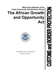 The African Growth and Opportunity Act - Office of Textiles and Apparel