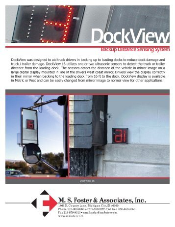 DockView Truck Backup Sensing System Brochure (PDF*)