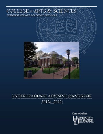 Undergraduate Advising Handbook - College of Arts and Sciences