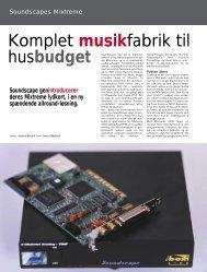 Komplet musikfabrik til husbudget - Soundcheck