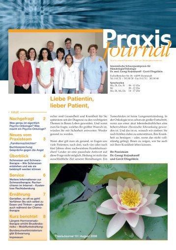 Ausgabe 10 / 2008 - Onkologische Schwerpunktpraxis Darmstadt