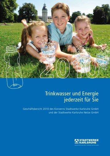 Trinkwasser und Energie jederzeit für Sie - Stadtwerke Karlsruhe