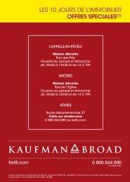 lES 10 JOURS DE l'IMMOBIlIER offres speciales(1) - Kaufman & Broad