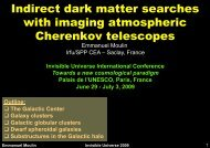 Indirect dark matter searches with imaging ... - Univers Invisible