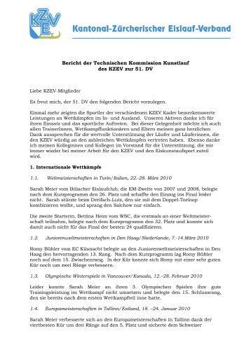 Jahresbericht TK Kunstlauf 2009/10 - KZEV