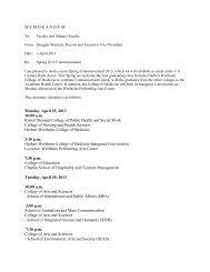 MEMORANDUM Monday, April 29, 2013 10:00 ... - Academic Affairs