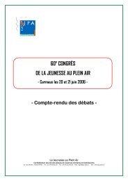60e CONGRÈS DE LA JEUNESSE AU PLEIN AIR