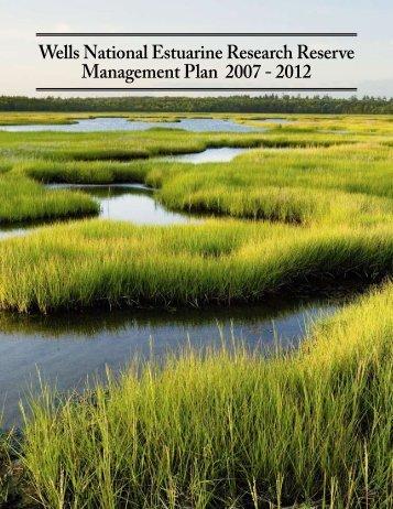 Management Plan - National Estuarine Research Reserve System