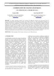 COORDINATION DE CHAINES LOGISTIQUES - LSIS
