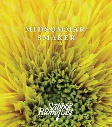 midsommar- smaker - Säbb & Blomqvist Catering