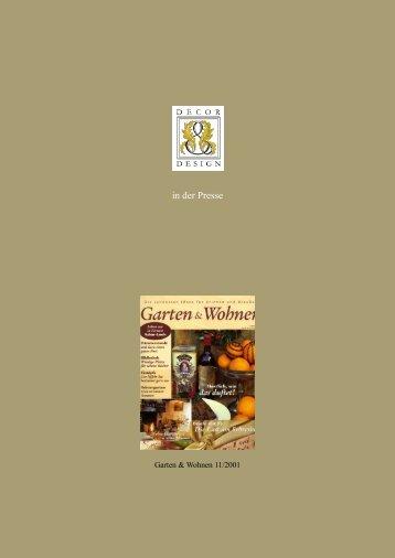 Garten und Wohnen 2001 - Decor & Design