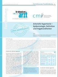 Arterielle Hypertonie - cmi | medizinische Fortbildung