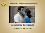 Pandemic Influenza - I Will Prepare