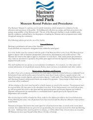 Event Policies and Procedures - Mariners' Museum