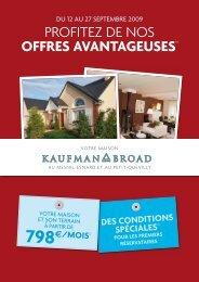 PROFITEZ DE NOS OFFRES AVANTAGEUSES(2) - Kaufman & Broad