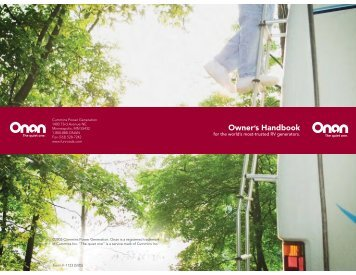 ONAN Owner's Handbook - Winnebago Rialta Motor Home
