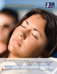 2012 Indiana Facts and Figures: Melanoma/Skin Cancer