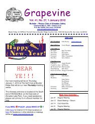 Grapevine - The Rotary Club of Almaden Valley