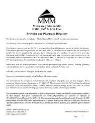 Medicare y Mucho Más HMO, SNP & POS Plan Provider and ... - MMM
