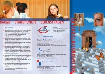 RÄUME · STANDPUNKTE · LEBENSFRAGEN · - FGH