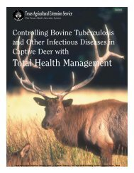 Controlling Bovine Tuberculosis and Other Infectious Diseases in ...