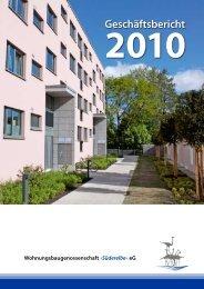 Geschäftsbericht 2010 - Wohnungsbaugenossenschaft Süderelbe eG
