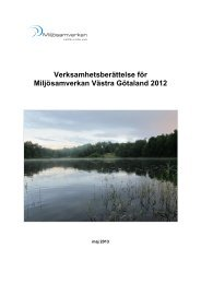 Verksamhetsberättelse för Miljösamverkan Västra Götaland 2012