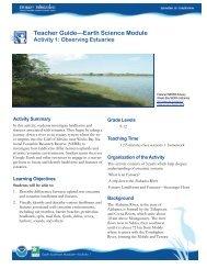 Teacher Guide—Earth Science Module - Estuaries NOAA