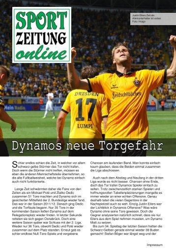 Dynamos neue Torgefahr