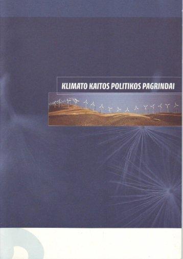 Klimato kaitos politikos pagrindai - Vilniaus universitetas