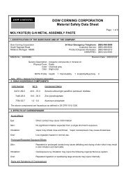 molykote gn material safety data sheet - ChemCenters