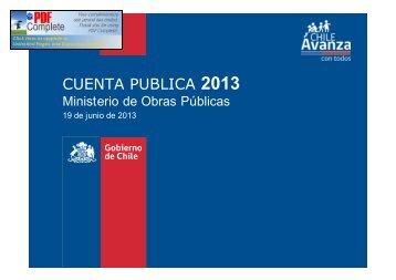 CUENTA PUBLICA 2013 - MOP