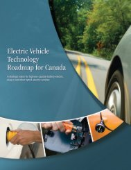 Electric Vehicle Technology Roadmap for Canada