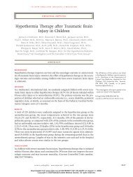 Hypothermia Therapy after Traumatic Brain Injury in Children