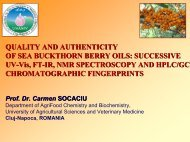 QUALITY AND AUTHENTICITY OF SEA BUCKTHORN BERRY OILS ...