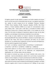 FACTORES QUE INFLUYEN EN PRECIO DE EXPORTACION DE ...