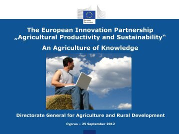 Agricultural Productivity and Sustainability - ORGANIC DAYS