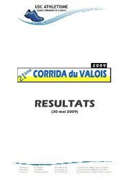 Résultats 2009 - Club de triathlon de Soissons
