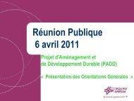 Présentation des Orientations générales du PADD - Bourg-en-Bresse