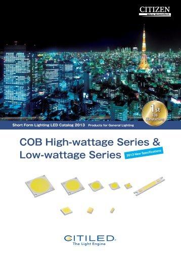 COB High-wattage Series & Low-wattage Series - CITIZEN