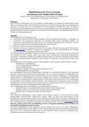 Empfehlungen zur Erstversorgung von Patienten mit ... - IGEH/INRO