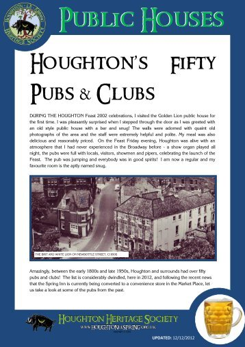 list of houghton's pubs - Houghton-le-Spring