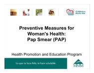 Preventive Measures for Woman's Health: Pap Smear (PAP) - MMM