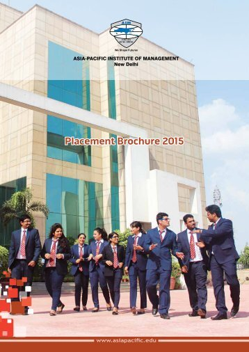 download placement brochure - Asia Pacific Institute of Management