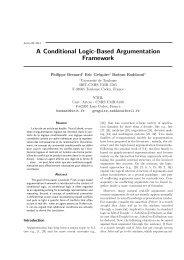 A Conditional Logic-Based Argumentation Framework - LSIS