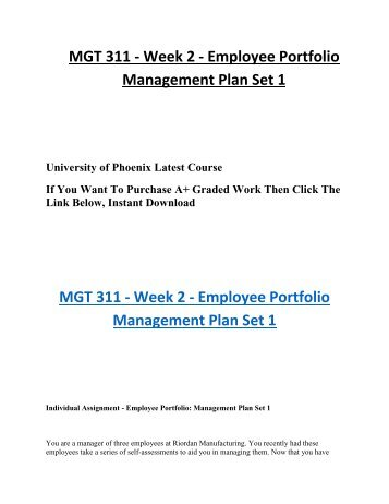 week 1 mgt 311 |[pic] |syllabus | | |school of business | | |mgt/311 version 1 | |  08 january  2016 (week 1) on the first day of community service class,.