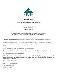 Formulario 2011 Lista de Medicamentos Cubiertos Planes ... - MMM