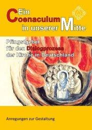 Ein Coenaculum in unserer Mitte – Pfingstgebet für den ... - Orden.de
