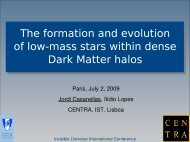 The formation and evolution of low-mass stars ... - Univers Invisible