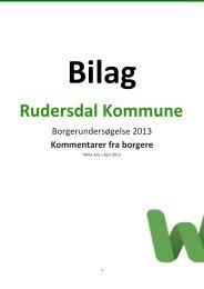 Bilag Rudersdal Kommune